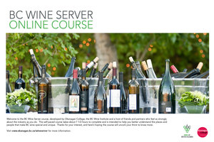 Online course for wine servers